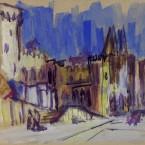 1-12 1998 Papstpalast von Avignon, Aquarell
