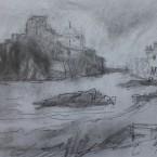 1-12  2012 Insel vor Ischia, Kreide, Reiseskizzen